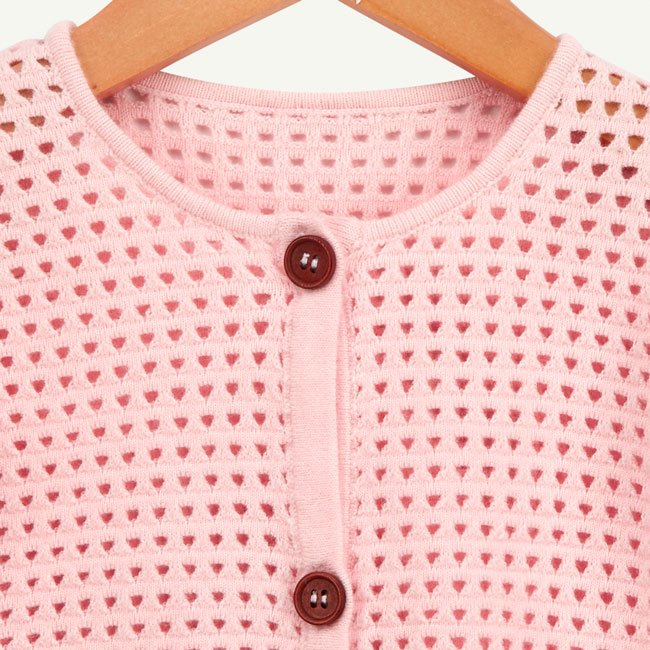 oliver and rain-organic-baby-cardigan sweater-soft-pink
