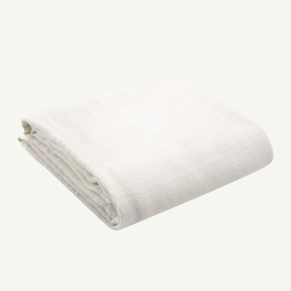 oliver and rain-organic-baby-blanket-muslin-swaddle-white
